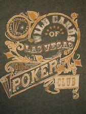 Wild Cards of Las Vegas The Original Poker Club Gambling Old Navy T Shirt XL