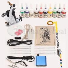 Professional Equipment Tattoo Machine Kits Set With LCD Power Supply Beginner UK