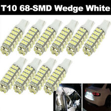 10X Super Bright White T10 68-SMD LED W5W 194 921 168 Reverse Backup Light Bulbs