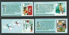 Gran Bretaña 2014 Navidad Juego De 4 Con Elíptica perforación Menta desmontado