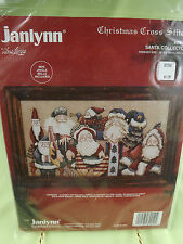 "Christmas Cross Stitch Kit by Janlynn ""Santa Collector"" Sealed  1994"