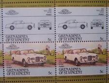 1959 FACEL VEGA FVS HK500 Car 50-Stamp Sheet / Auto 100 Leaders of the World