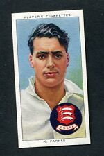 John Player Cigarette Card - Cricketers 1938 No8 H.Farnes (Cambridge, Essex)