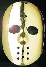 Gold Hockey Face Mask Jason Friday 13Th Halloween Robot Fancy Dress
