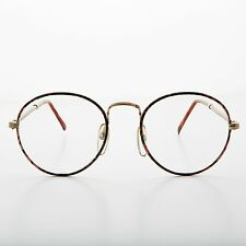 Polo Round Clear Glass Lens Eyeglass Vintage New Old Stock Brown Tortoise- Alex