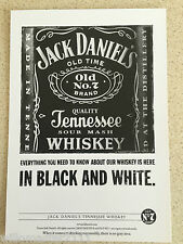 JACK DANIELS WHISKEY ADVERTISING SPIRIT POSTCARD (IN BLACK AND WHITE  )