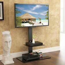 "Floor TV Stand with Swivel Mount Component Shelf for 32-65"" Sharp Samsung LED TV"