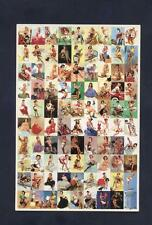 Gil Elvgren Pin Ups  jUMBO CARD CASE TOPPER  FULL SET MINITURE ON 1 CARD
