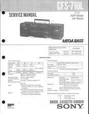 Sony Original Service Manual für CFS-710 L