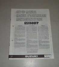 Montageanleitung / Set Up Manual Suzuki GSX 600 F Stand 06/1992
