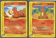 2 x CHARMANDER #97/165 & #98/165 EXPEDITION Pokemon Cards MINT