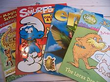 Lot of 4 Activity Book for Kids - Smurfs, Lorax, Magic School Bus - NEW $27.92
