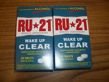 Ru-21 Wake Up Clear-Hangover Prevention-Dietary Supplement,-2 Boxes 20 Tabs Each