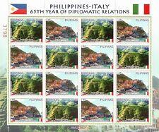 2013 65° ann. relazioni diplomatiche con l'Italia - Filippine - minifoglio