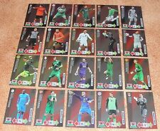 Adrenalyn Champions League 2012-13 Goal Stopper complete set of 20 cards Rare
