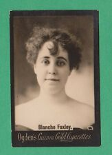 ACTRESS  -  OGDENS  GUINEA  GOLD  LARGE  CARD  -  BLANCHE  FOXLEY  -  1901