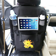 Car Back Seat Organizer Tablet Holder For iPad Clear Touch Screen Storage Bag