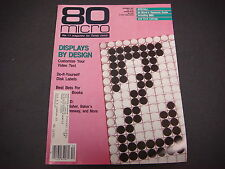 80 Micro Magazine For Tandy Users,December 1987,Design,Micro,BBS,Disk Labels