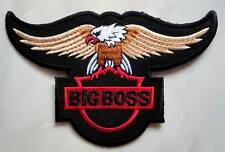 Big Boss Black Eagle Logo Embroidered Iron on Patch Free Shipping
