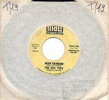 THE BOX TOPS disco 45 g. MADE in USA Neon rainbow + Everything I am PROMO 1968