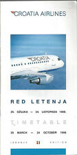 Croatia Airlines system timetable 3/29/98 [6022] Buy 2 get 1 free