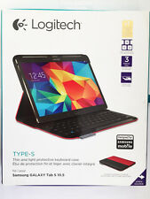 Logitech Type-S Wireless Keyboard Case for Samsung Galaxy Tab S 10.5-Bright
