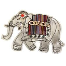 Elephant Wild Animal Safari Embroidered Iron On Clothes Badge Applique Patch