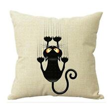 Cat Kitty Pillow Case Sofa Waist Throw Cushion Cover Home Decor X1