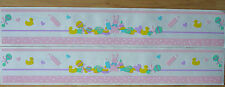 2 MRS GROSSMAN BABY GIRL PINK DL SCRAPBOOK BORDER STICKER CLEARANCE PRICE!!!