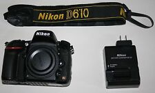 Nikon D D610 24.3MP Digital SLR Camera - Black (Body Only)
