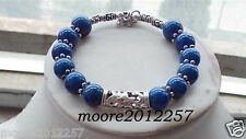 Beautiful handmade the Tibet silver Lapis Lazuli bracelet 7.5 ~ 8 inches