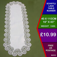New Schiffli Heavy  Lace Table Runner Cloth Doilie Mat Table Centre M451H