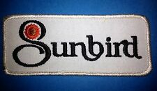 Rare 1970's Pontiac Sunbird Collectable Car Club Jacket Hat Patch Crest