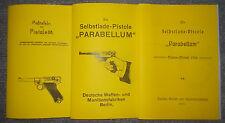 Beschreibung & Zeichnungen Pistole Parabellum 08 & Beschr. Marine-Modell 1904