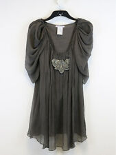 Paul & Joe Sister Womens Grey Butterfly Detail Dress Size 42 (UK Size 14)