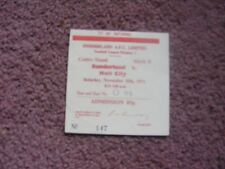 1972/3 Sunderland  v Hull City Ticket