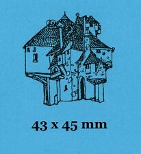 Rickety House Rubber Stamp - Backed with Cling Foam