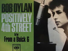 "BOB DYLAN 45 RPM 7"" - Positively 4th Street RSD 2011"