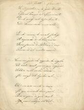 Trascrizione Manoscritta Tragedia Biblica Giuditta di Paolo Giacometti 1870