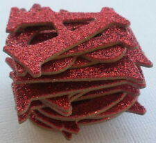 Doodlebug - ROUGE RED - GLiTTER Alphabet Chipboard Letters Die Cuts 1.5""