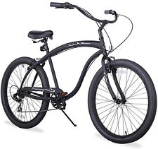 "26"" Beach Cruiser Bicycle Firmstrong Bruiser Men 3 spd matt black"