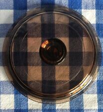 Corning Ware Pyrex Visions Amber Casserole Replacement Lid #P81C