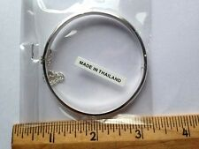 Bangle 5 mm Sterling Silver Bracelet #2  - 56 mm Diameter  .925 Pure Silver