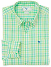 NWT Southern Tide Men's Checkered Green Long Sleeve Button Front Shirt Small