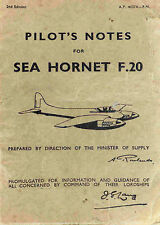 PILOT'S NOTES: SEA HORNET F.20/ CARRIER-BASED WOODEN STRIKE FIGHTER + INFO PACK