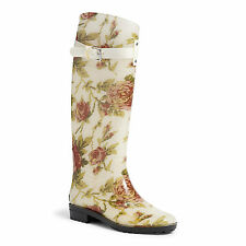 Lauren by Ralph Lauren Rosalyn In floral Wellington Wellies Boots  US7 UK4,5