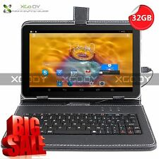 "32GB 9"" Inch Android 4.4 Quad Core TABLET PC Dual Camera With Free Keyboard"