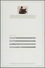 JOHN F. KENNEDY/JFK ASSASSINATION Orig one sheet movie poster 1964 Documentary