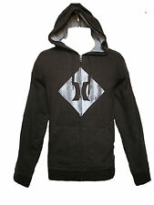 NEW HURLEY MENS GUYS HOODED ZIP FRONT FLEECE SWEATSHIRT TOP HOODIE JACKET SZ M