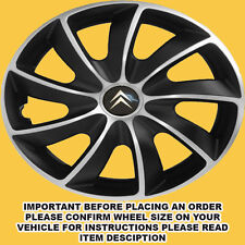 14 INCH SET OF 4 WHEEL TRIMS HUB CAPS COVERS CITROEN C1 C2 PICASSO NEMO ETC